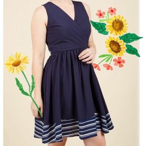 ModCloth Spectacular Navy Dress by Yellow Star